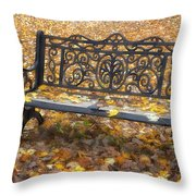 Lovers Gone Throw Pillow