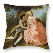 Lovers In A Landscape Throw Pillow