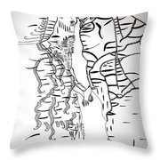 Loves Encounter Throw Pillow