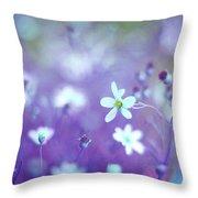 Lovestruck In Purple Throw Pillow
