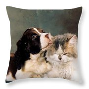 Loving Kiss Throw Pillow