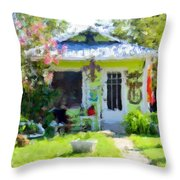 Loving Life In Lime Throw Pillow