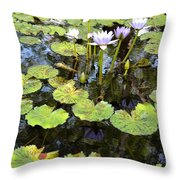 Loving Lilypads Throw Pillow