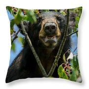 Loving Me Some Cherries Throw Pillow