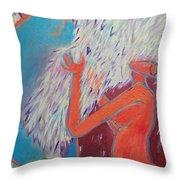 Loving My Angel Throw Pillow by Ana Maria Edulescu