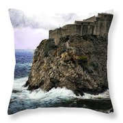 Lovrijenac Tower In Dubrovnik Throw Pillow