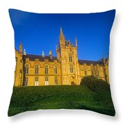 Low Angle View Of A Building, Magee Throw Pillow