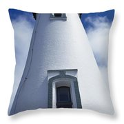 Low Angle View Of Lighthouse Throw Pillow