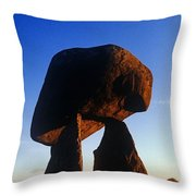 Low Angle View Of Proleek Dolmen Throw Pillow