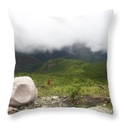 Low Clouds, Quebec Throw Pillow