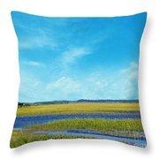 Low Country Marsh Throw Pillow