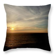 Low Sun Over The Pacific Throw Pillow