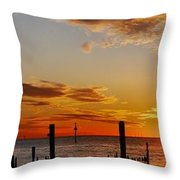 Low Tide At The Lake Throw Pillow