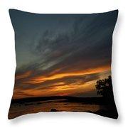 Low Tide Sunset Throw Pillow