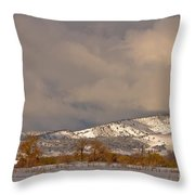 Low Winter Storm Clouds Colorado Rocky Mountain Foothills 2 Throw Pillow