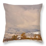 Low Winter Storm Clouds Colorado Rocky Mountain Foothills 5 Throw Pillow