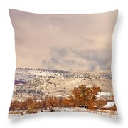 Low Winter Storm Clouds Colorado Rocky Mountain Foothills 6 Throw Pillow