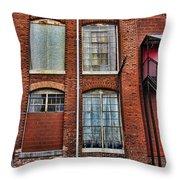 Lowe Mill Art Studio Building Huntsville Alabama Usa Throw Pillow