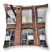 Lowe Mill Art Studios Huntsville Alabama Usa Throw Pillow