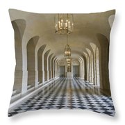 Lower Gallery Versailles Palace Throw Pillow