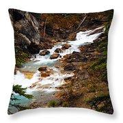 Lower Twin Falls Throw Pillow