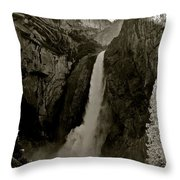 Lower Yosemite Falls Throw Pillow