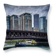 Lsd Lake Shore Drive In Color Throw Pillow