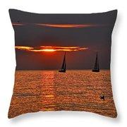 Red Maritime Dream Throw Pillow