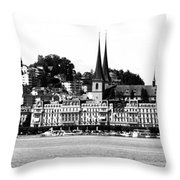 Lucerne In Monochrome Throw Pillow