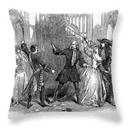 Lucia Di Lammermoor, 1847 Throw Pillow