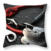 Lucky Red Lead Throw Pillow