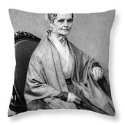 Lucretia Coffin Mott, American Activist Throw Pillow by Photo Researchers