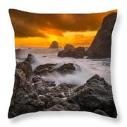 Luffenholtz Winter Sunset 2 Throw Pillow