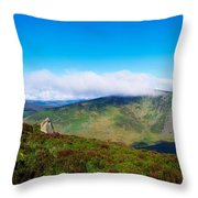 Luggala And Lough Tay, Co Wicklow Throw Pillow
