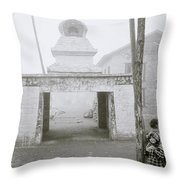 Lukla In The Himalaya Throw Pillow