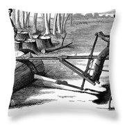 Lumbering: Saw, 1879 Throw Pillow