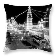 Luna Park - Coney Island - New York At Night - C 1903  Throw Pillow