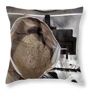 Lunar Soil Throw Pillow