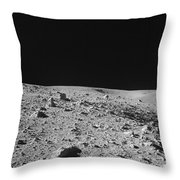 Lunar Surface Throw Pillow