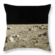 Lunar Surface Throw Pillow by Science Source