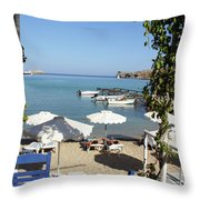 Lunch On The Mediterranean  Throw Pillow