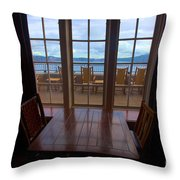 Lunch With A View Throw Pillow