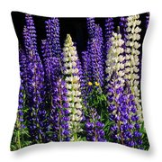 Lupine Flowers Throw Pillow