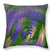 Lupine Swirl Throw Pillow