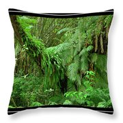 Lush Green Landscape Throw Pillow