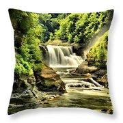 Lush Lower Falls Throw Pillow