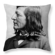 Luther Standing Bear Throw Pillow