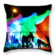 Lux City Throw Pillow