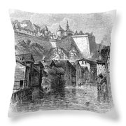 Luxembourg, 19th Century Throw Pillow
