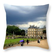 Luxembourg Gardens 2 Throw Pillow